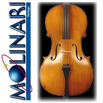 Molinari N352 - 4/4 Size European Cello Outfit - Nitro Finish