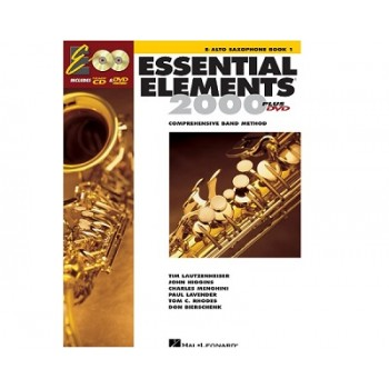 Essential Elements 2000 - for Band Book 1 - Alto Saxophone with CD & DVD