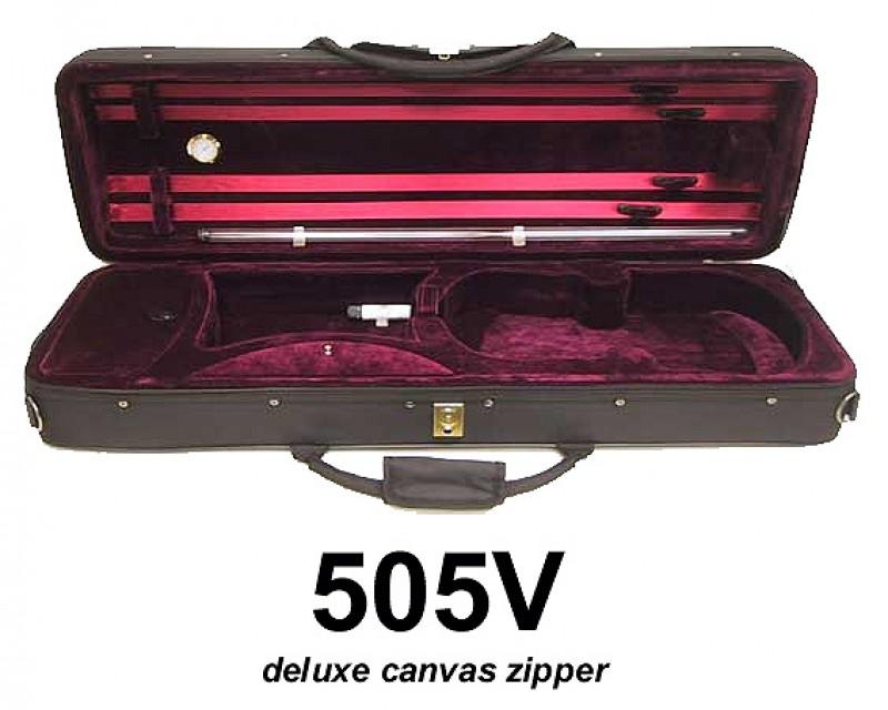 Molinari 505V-Violin Case-Deluxe Canvas Zipper
